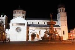 Trento by night, Italy Stock Photos