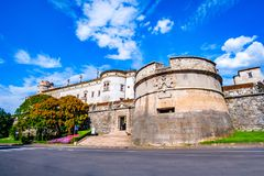 Trento Trent - Castello del Buonconsiglio Rockera Trentino Alto Adige Italy royaltyfria bilder
