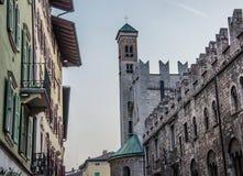 Trento, Trentino Alto-Adige (Italy). Detail of architecture in Trento, Trentino Alto-Adige (Italy Stock Photo