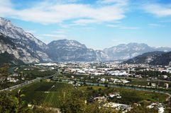 Trento view stock images