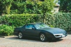 Trento, Włochy: lipiec 22, 2017: spotkanie klasyczni samochody Stary samochód na parking Obrazy Royalty Free