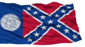 Trenton City Flag d'isolement, Etats-Unis d'Amérique Photos libres de droits