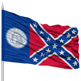 Trenton City Flag sur le mât de drapeau, Etats-Unis Photos stock