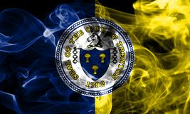 Trenton city smoke flag, New Jersey State, United States Of Amer. Ica Stock Images