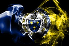 Trenton city smoke flag, New Jersey State, United States Of Amer. Ica stock photo