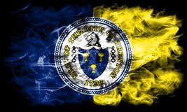 Trenton city smoke flag, New Jersey State, United States Of America.  Royalty Free Stock Photos