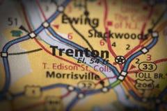 Trenton, New Jersey sulla mappa Immagine Stock Libera da Diritti