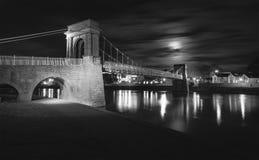 Trentvoetgangersbrug Nottingham stock afbeeldingen