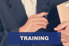 Trenujący wycena - Biznesowego mężczyzna tło Fotografia Royalty Free