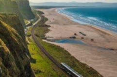Trenuje między Londonderry i Coleraine, jeden najwięcej beautif zdjęcia royalty free