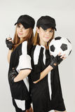 trenuje piłkę nożną fotografia royalty free