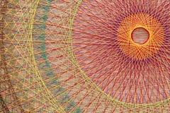 Trenza con las secuencias coloridas Foto de archivo