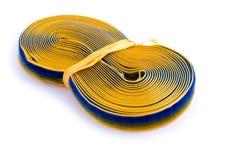 Trenza de costura en blanco Imagen de archivo libre de regalías