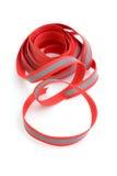 Trenza de costura roja Imágenes de archivo libres de regalías