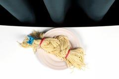 Trenza de la cortina y de los espaguetis Fotos de archivo libres de regalías
