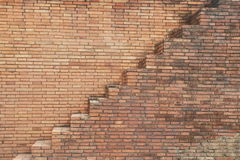 Treppe auf Blockwand Lizenzfreies Stockfoto