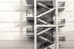 Treppe auf Wand Lizenzfreies Stockfoto