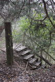 Treppe bei Holland Lake Park in Weatherford Texas Stockbilder