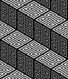 Treppe 3D Zig Zag, OPart vector seamless pattern Lizenzfreie Stockfotografie