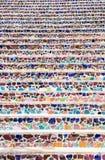 Treppe dekorativ durch Keramik Bunte Beschaffenheit stockfotografie