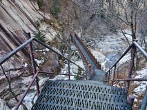 Treppe in den Bergen Stockbilder