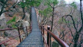 Treppe in den Bergen Stockfotografie