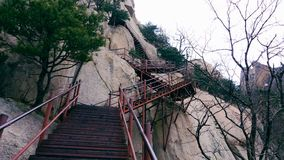 Treppe in den Bergen Lizenzfreie Stockfotografie