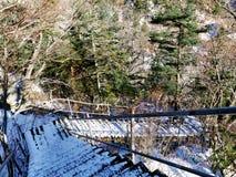 Treppe in den Bergen Lizenzfreie Stockbilder