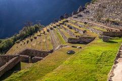 Treppe an der Inkastadt Machu Picchu, Peru lizenzfreie stockfotos