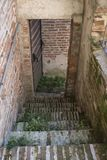 Treppe der Stadtmauer in Cittadella, Italien stockfoto