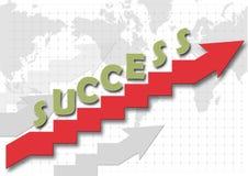 Treppe der succes Stockfoto