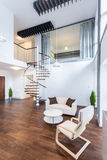 Treppe in der Wohnung Stockfotos