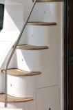 Treppe der Yacht im Detail Stockfoto