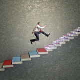 Treppe des Erfolgs 3d Lizenzfreie Stockfotos