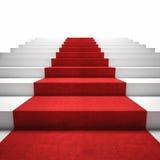 Treppe des roten Teppichs Stockbild