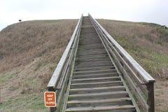 Treppe des Tempel-Hügel-Hügels A Etowah-Hügels Lizenzfreie Stockbilder