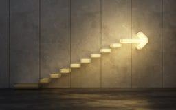 Treppe, die aufwärts geht lizenzfreies stockbild