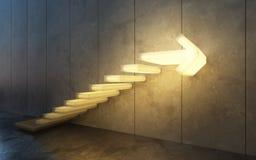 Treppe, die aufw?rts, 3d geht zu ?bertragen lizenzfreie stockbilder