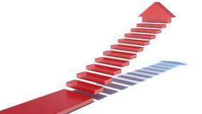 Treppe, die aufwärts geht Stockbilder