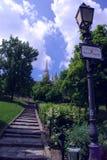 Treppe in einem Park Lizenzfreie Stockfotografie