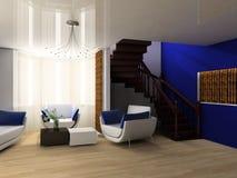 Treppe in einem Salon Lizenzfreies Stockbild