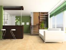 Treppe in einem Salon Lizenzfreie Stockfotos