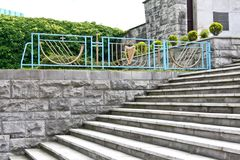 Treppe am Garten der Erinnerung, Dublin, Irland Lizenzfreie Stockbilder