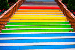 Treppe gemalt Lizenzfreies Stockbild
