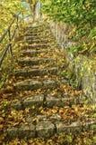 Treppe hergestellt vom Naturstein Lizenzfreie Stockfotografie