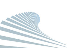 Treppe im Himmel auf weißem Hintergrund Lizenzfreies Stockfoto