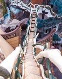 Treppe im verrückten Haus Stockbilder