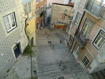 Treppe in Lissabon stockbilder