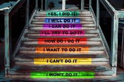 Treppe mit den Schritten, zum Ihres Ziels zu erreichen lizenzfreies stockfoto