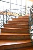 Treppe mit metallischem Muster Stockfotos